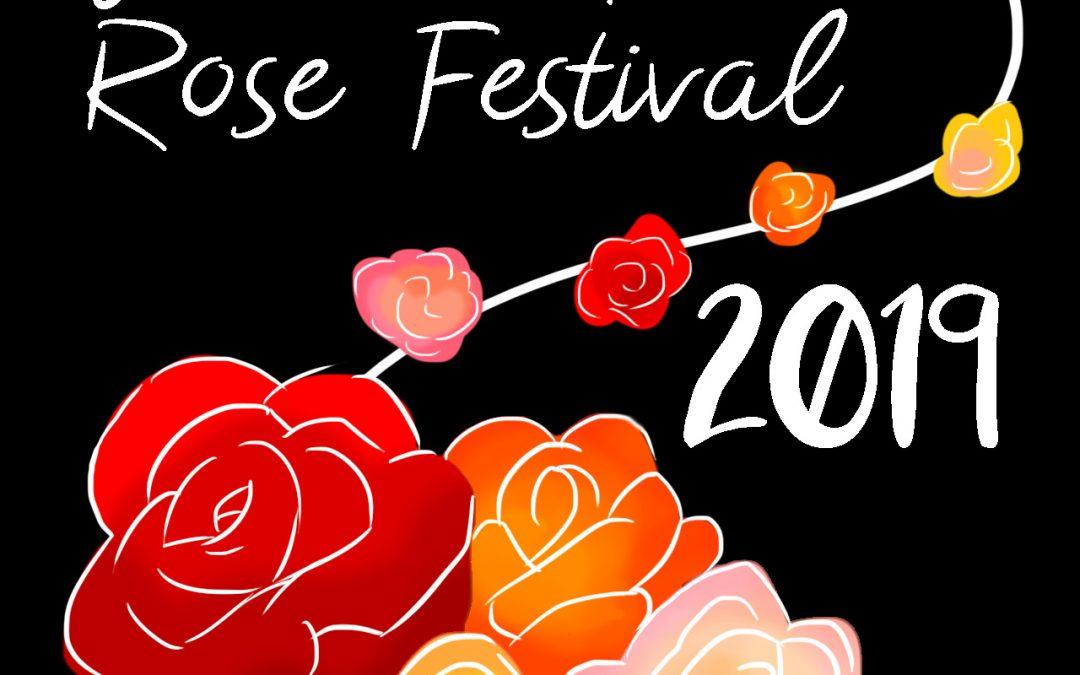 Winning Entry for 2019 Rose Festival T-shirt Art Contest