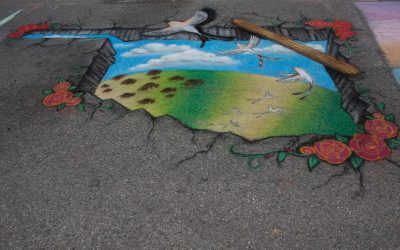 """""""Chalk It Up!"""" Art Competition at BA Rose Festival"""